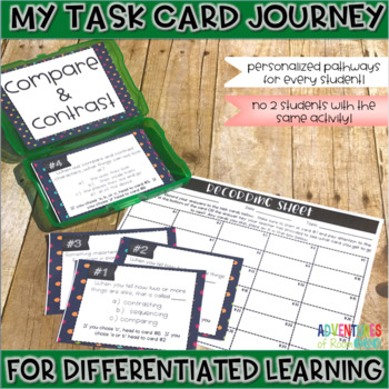 Compare and Contrast Task Cards (Differentiated)