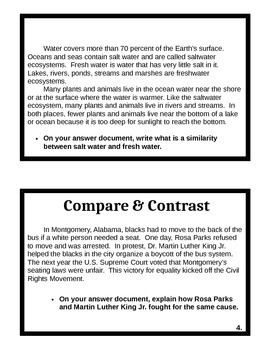 Compare and Contrast Task Cards with lesson plan