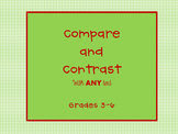 Compare and Contrast Template (for any text)