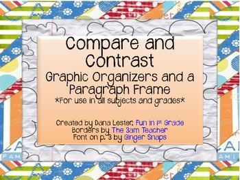 comparison essay frame What the topic or argument of the essay is you do this via thesis sentence templatesa comparison/contrast template 1.