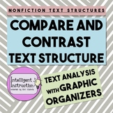 Compare and Contrast Text Structure: Graphic Organizer Worksheets