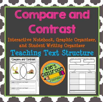 Compare and Contrast  Interactive Notebook and Graphic Organizer