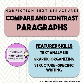 Compare and Contrast Text Structure: Paragraph Analysis and Writing Assessment