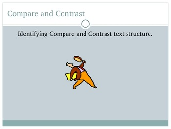 Compare and Contrast Text Structure PowerPoint