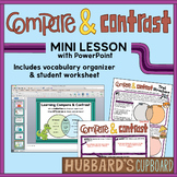 Compare and Contrast Text Structure PowerPoint w/ Student Worksheet