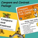 Compare and Contrast Text Structure - Task Cards and Slide
