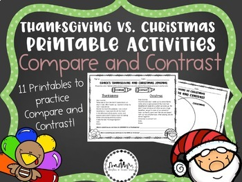 Compare and Contrast: Thanksgiving VS Christmas