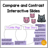 Compare and Contrast - The 3 Little Pigs and The True Story Interactive Slides