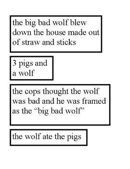 Compare and Contrast - The Three Little Pigs