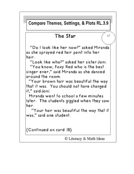 Compare and Contrast Themes, Settings, and Plots RL.3.9
