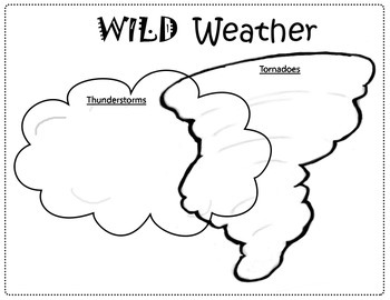 compare and contrast tornadoes and thunderstorms venn diagram freebie