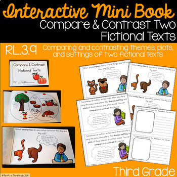 Compare and Contrast Two Fiction Texts Interactive Mini Book {RL.3.9}
