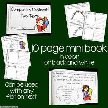 Compare and Contrast Two Texts Interactive Mini Book {RL.4.9}