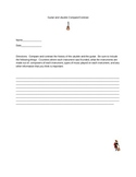 Compare and Contrast Ukulele and Guitar Worksheet