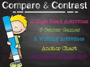 Compare and Contrast Unit! Close Readings + Literacy Cente
