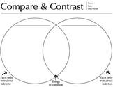 Compare and Contrast Venn Diagram, worksheet, PDF, downloadable