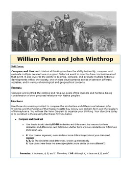 Compare and Contrast William Penn and John Winthrop DBQ