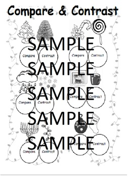 Compare and Contrast Winter/Christmas/Hannukah with Dot Markers-Speech Therapy