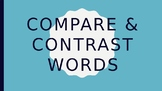 Compare and Contrast Words - FREEBIE