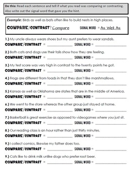 Compare and Contrast Packet + Test