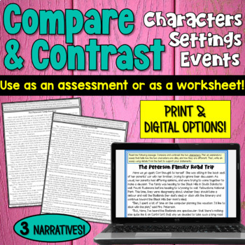 Compare And Contrast Worksheets By Deb Hanson Teachers Pay Teachers