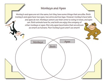Compare and Contrast Worksheets (Differentiated) by Mrs Coonrod | TpT