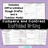 Compare and Contrast Essay - Compare and Contrast Writing - Scaffolded Template