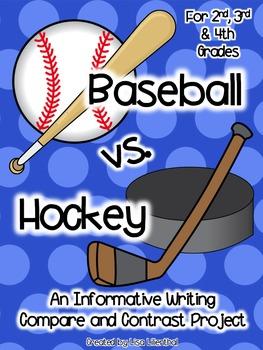 Compare and Contrast Writing ~ Baseball vs. Hockey