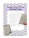 Compare and Contrast Writing Frame for Common Core Standards