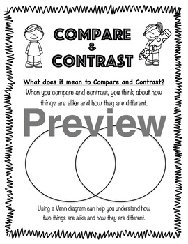 Compare and Contrast Writing Journal