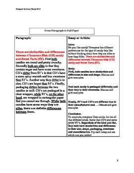 Compare and Contrast Writing Mini Lessons