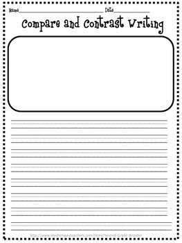 Compare and Contrast Writing Pack