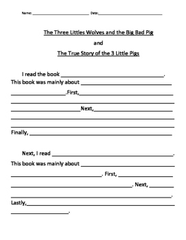 Compare and Contrast Writing Paragraph Frame