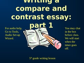 Compare and Contrast Writing: Part 1