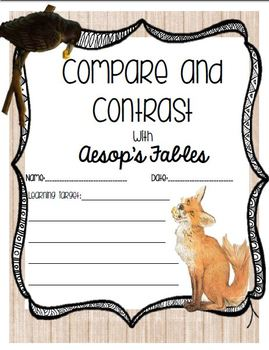 Compare and Contrast Writing using Aesop's Fables