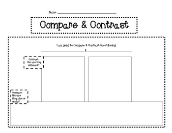 Compare and Contrast for Common Core ELA