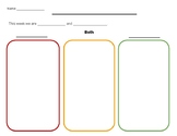 Compare and Contrast graphic organizer (lined and unlined)