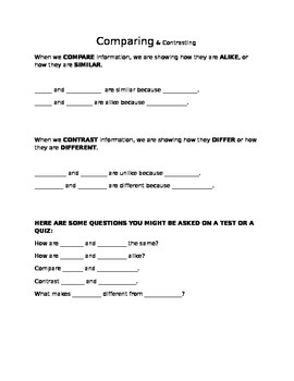Compare and Contrast handout