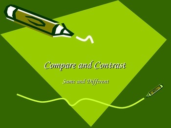 Compare and Contrast in Writing