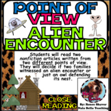 Compare and Contrast the Author's Point of View Alien Encounter