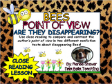 Compare and Contrast the Author's Point of View Close Reading Lesson Bees