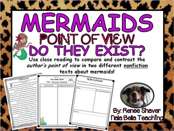 Compare and Contrast the Author's Point of View Close Reading Lesson Mermaids