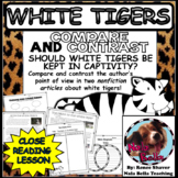 Compare and Contrast the Author's Point of View White Tigers