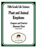 Compare and Contrast the Plant and Animal Kingdoms Diamante Poem