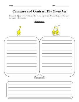 Compare and Contrast the Sneetches