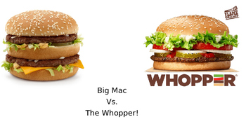 Compare and Contrast the Whopper and Big Mac