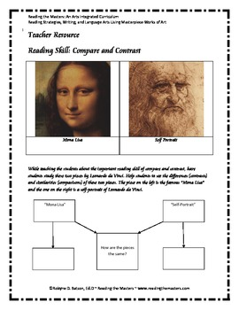 Compare and Contrast with Leonardo daVinci