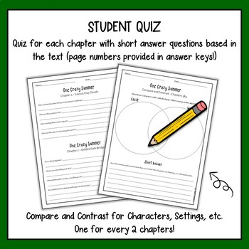 One Crazy Summer with Answer Key {Focus Skill: Compare and Contrast}