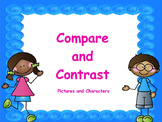 Compare and Contrast with Pictures and Characters: PowerPoint and Worksheets