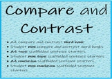 Compare and Contrast writing prompts